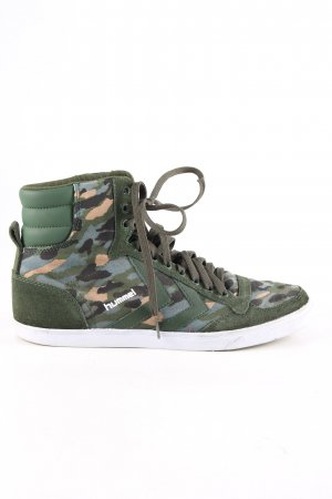 Hummel High Top Sneaker khaki-nude Camouflagemuster Casual-Look