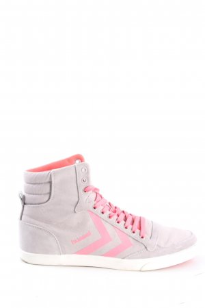 Hummel High Top Sneaker hellgrau-pink Casual-Look