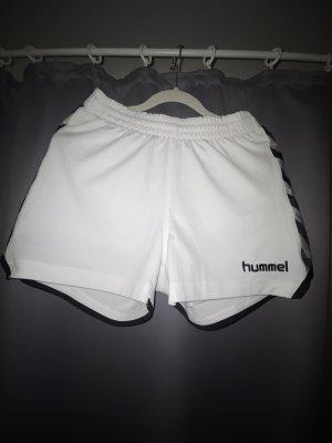 Hummel Short de sport blanc-noir
