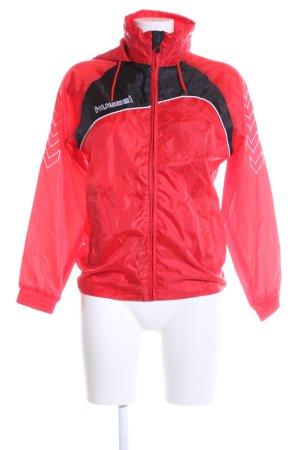 Hummel Veste à capuche rouge-noir style décontracté