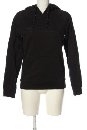 Hummel Kapuzensweatshirt schwarz Schriftzug gedruckt Casual-Look