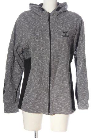 Hummel Felpa con cappuccio grigio chiaro-nero puntinato stile casual