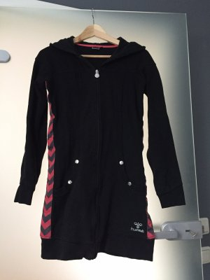 Hummel Veste sweat noir-rouge framboise