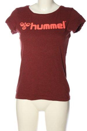 Hummel Camiseta estampada rojo moteado look casual