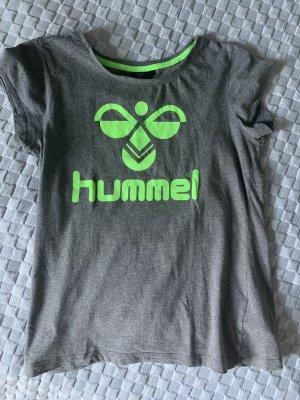 Hummel T-shirt grigio-verde neon