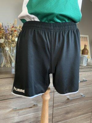 Hummel Short de sport noir-blanc