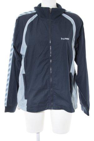 Hummel Veste de sport bleu motif rayé style décontracté