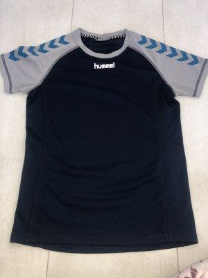 Hummel Maglietta sport blu scuro-grigio ardesia