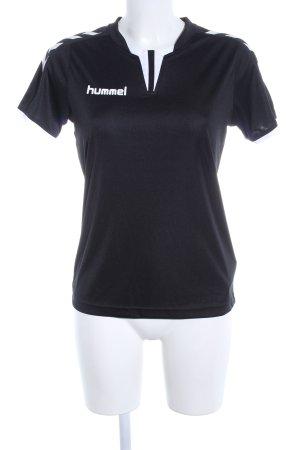Hummel Sportshirt zwart-wit casual uitstraling