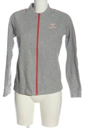 Hummel Sweatshirt gris clair-crème moucheté style décontracté