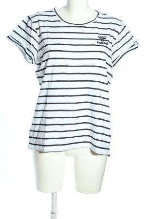 Hummel T-shirt blanc-noir imprimé allover style décontracté