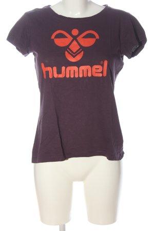 Hummel T-shirt lilla caratteri stampati stile casual