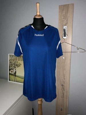 Hummel T-shirt de sport bleu-blanc