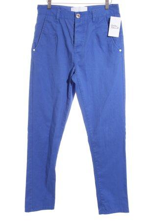 Humör High-Waist Hose blau Casual-Look
