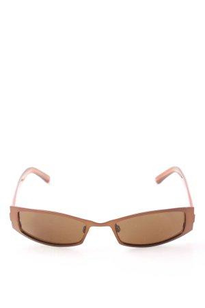 Humphrey eckige Sonnenbrille braun-hellorange Casual-Look