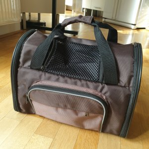 Travel Bag black-dark brown