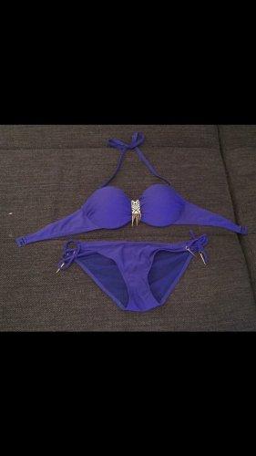 Hunkemöller Bikini, blau, 80B