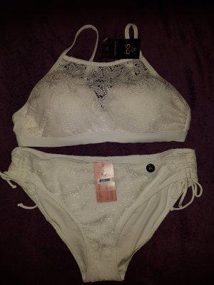 Hunkemöller Bikini Etta Crochet weiß 85D, XL