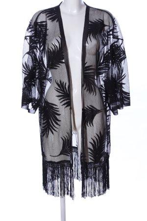 Hunkemöller Blouse Jacket black allover print transparent look