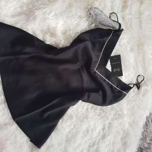Hunkemöller Piżama czarny-w kolorze białej wełny
