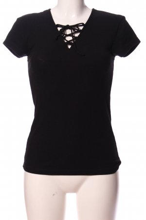 Hunkemöller Geribd shirt zwart casual uitstraling