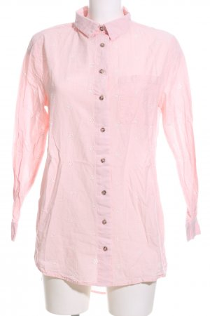 Hunkemöller Long-Bluse pink Blumenmuster Business-Look