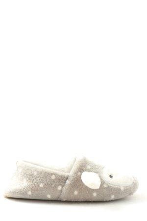 Hunkemöller Sloffen lichtgrijs-wit prints met een thema casual uitstraling