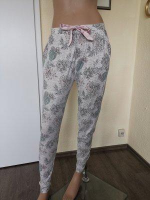 HUNKEMÖLLER Pyjamahose Schlafhose Jogginghose grau/rosa/grün Gr. S