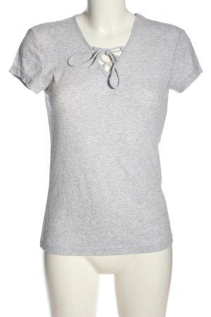 Hunkemöller Camisa acanalada gris claro look casual