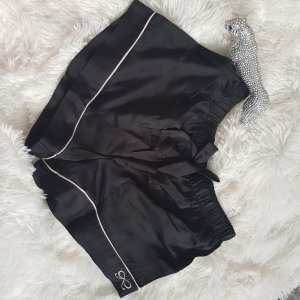 Hunkemüller Pijama negro-blanco puro