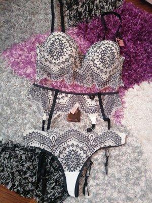 Hunkemöller Set lingerie bianco-nero