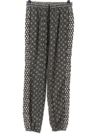 Hunkemöller Jersey Pants black-cream allover print casual look