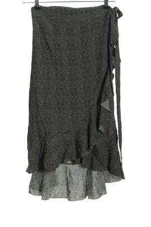 Hunkemöller Jupe portefeuille kaki-noir motif de tache style décontracté