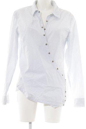Hunkydory Hemd-Bluse weiß-himmelblau Streifenmuster Street-Fashion-Look