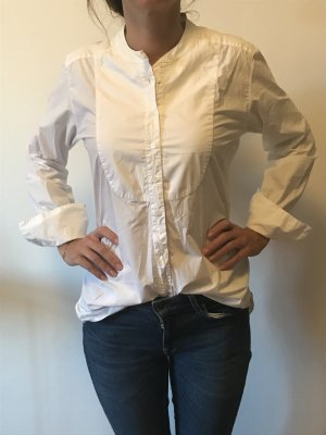 HUNKYDORY Long Bluse weiß