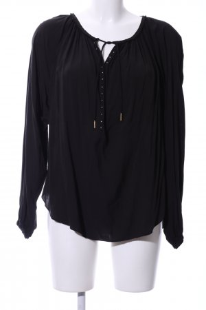 Hunkydory Oversized Bluse schwarz Business-Look