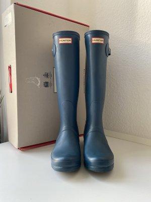 Hunter Wellington laarzen blauw