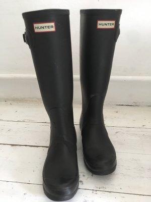Hunter Botas de agua negro-magenta