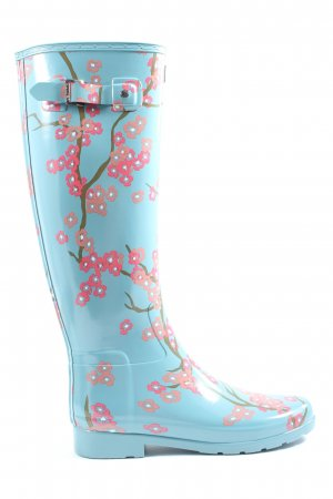Hunter Wellies allover print casual look