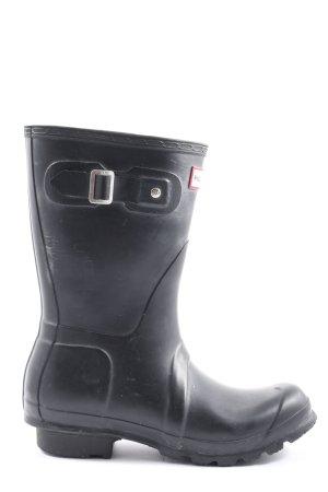 Hunter Wellington laarzen zwart casual uitstraling