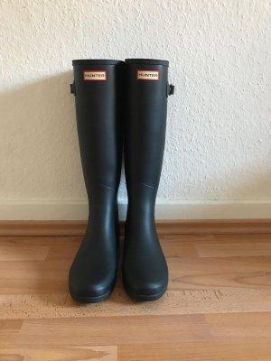 Hunter Wellington laarzen donkerblauw