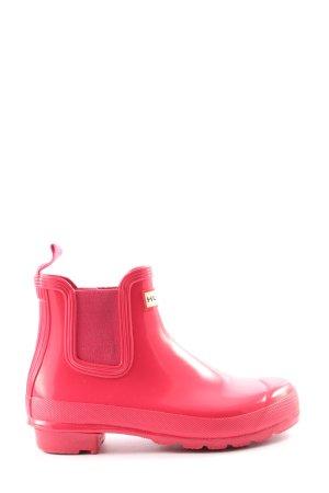 Hunter Wellington laarzen roze casual uitstraling
