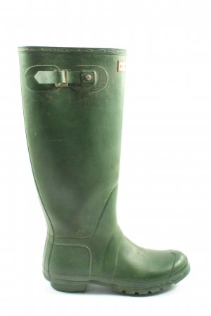 Hunter Gummistiefel grün Casual-Look