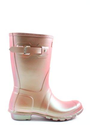 Hunter Wellies pink color gradient casual look