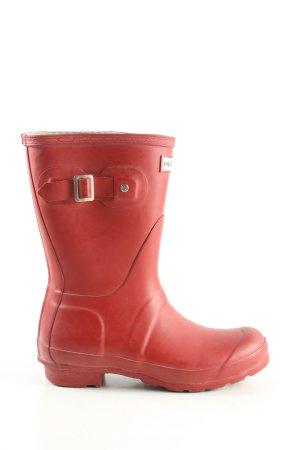 Hunter Wellington laarzen rood casual uitstraling