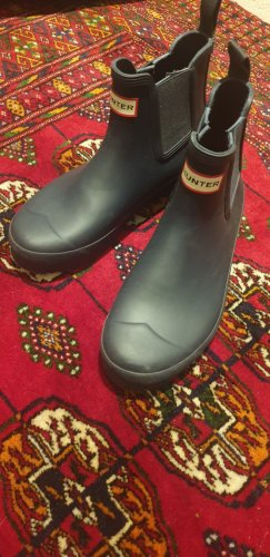 Hunter Gumowe buty niebieski-ciemnoniebieski
