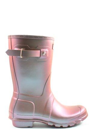 Hunter Wellington laarzen roze-lichtgrijs kleurverloop casual uitstraling