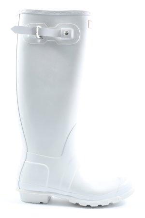 Hunter Wellington laarzen wit casual uitstraling