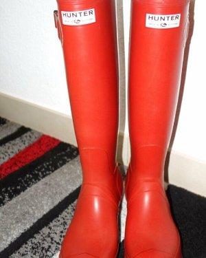 Hunter Gumowe buty czerwony
