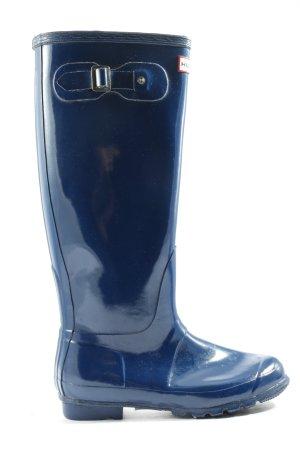 Hunter Wellington laarzen blauw casual uitstraling